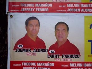 Wahlplakat in Pontevedra